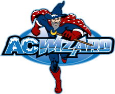 AC Wizard Heating and Air Conditioning Logo